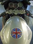 "TRIUMPH Petrol/Gas Cap. Aluminium Tank Decal ""Union Flag"""
